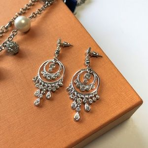 Silvery Chandelier Earrings